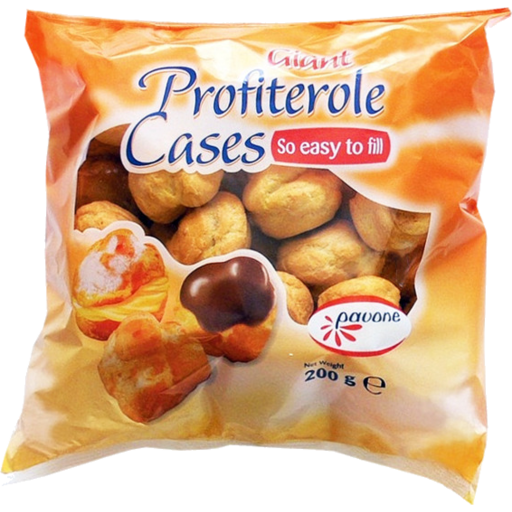 Pavone Giant Profiterole Cases 200g